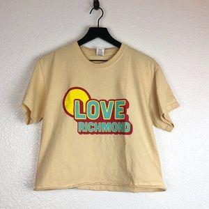 Love Richmond Cropped T Shirt M Dusty yellow 70s